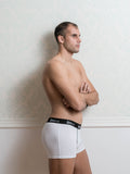 Basic White Male Trunk Underwear