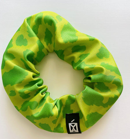 Scrunchies Animal Print Green