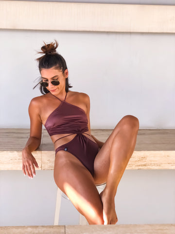 Nymphia Brown Swimsuit