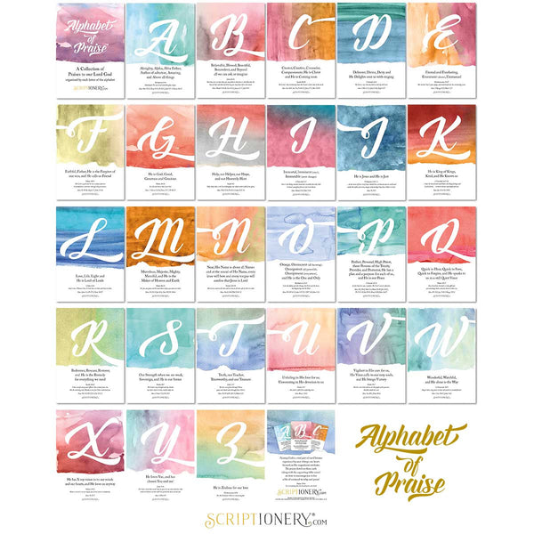 Alphabet of Praise Scripture Cards Preview