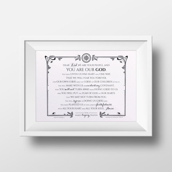 Legacy Prayer Art Print framed