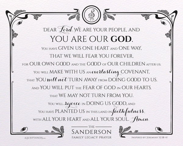 Personalized Legacy Prayer Art Print