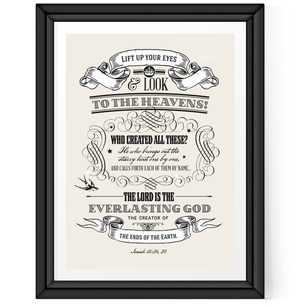 """Lift Up Your Eyes"" Art Print with Frame not included"