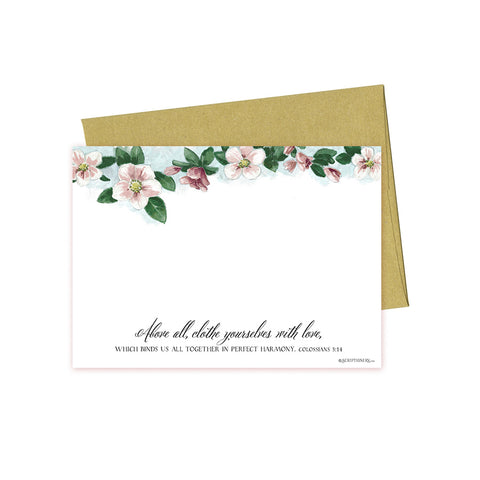 Colossians 3:14 Petite Stationery