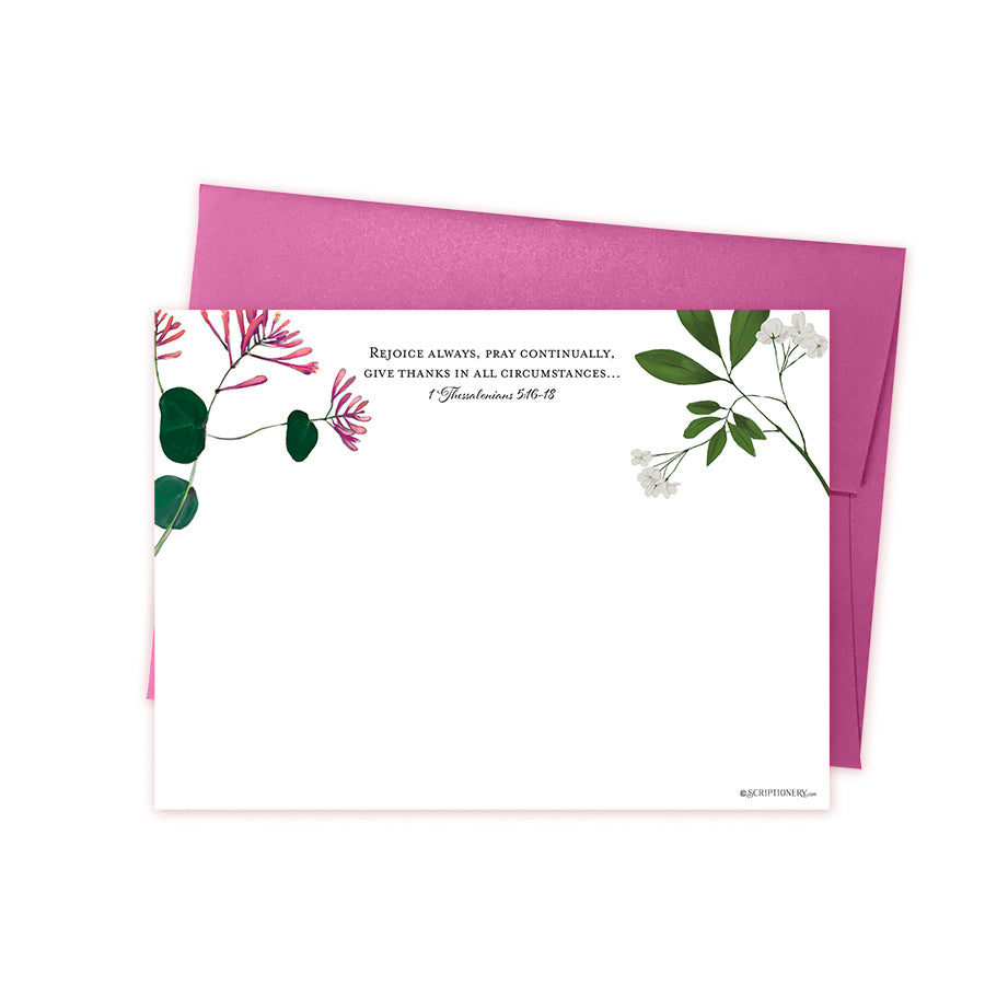 1 Thessalonians 5:16-18 Stationery