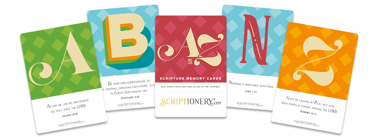 A to Z Scripture Memory Cards
