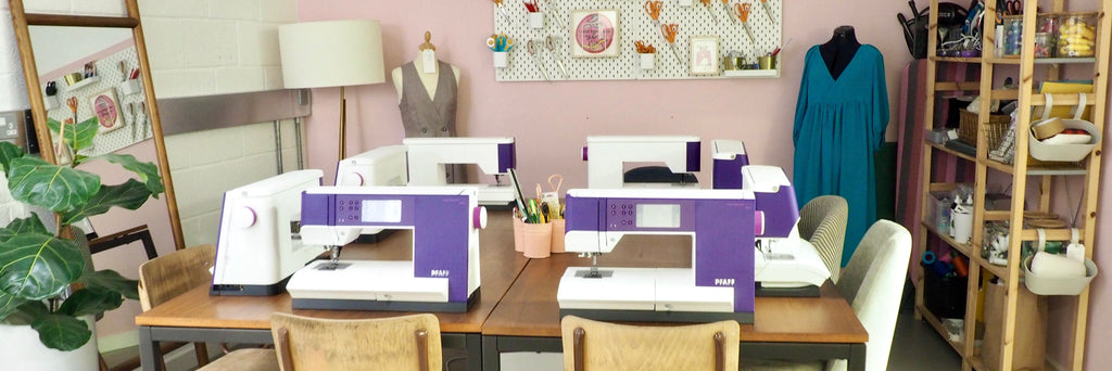 Sewing workshops with Pfaff machines in London Fields