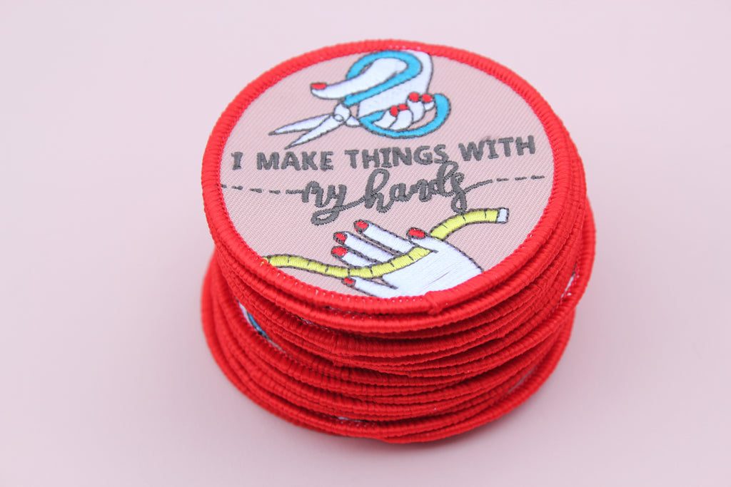 Sewing embroidered patch