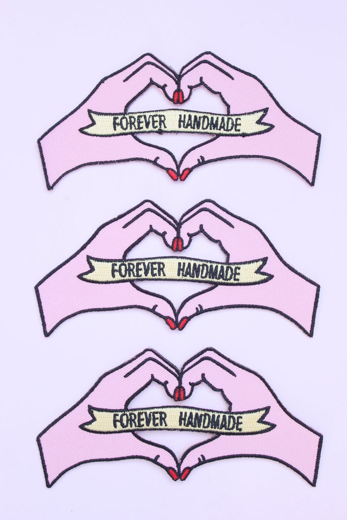 'Forever Handmade' Embroidered Patch