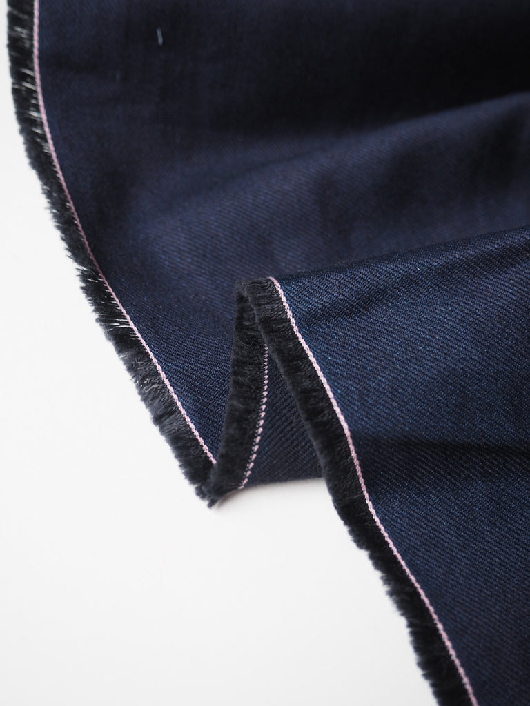 Drapey Indigo Cotton Twill