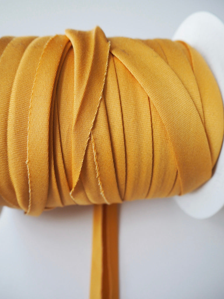 Gold Cotton Sateen Bias Binding 14mm
