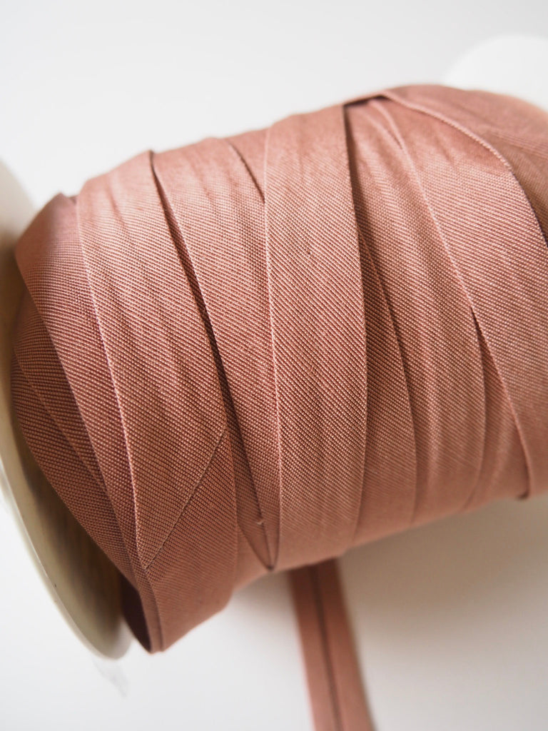 Rose Cotton Faille Bias Binding 14mm