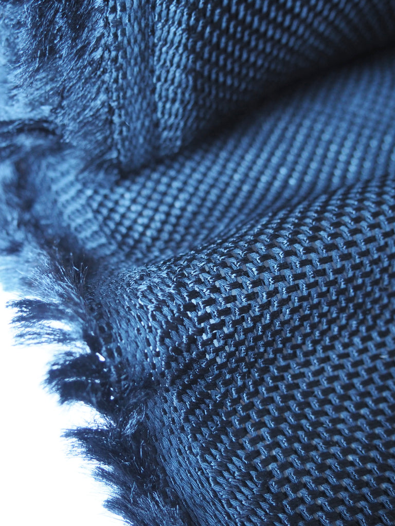 Midnight Cotton Viscose Chainmail Knit