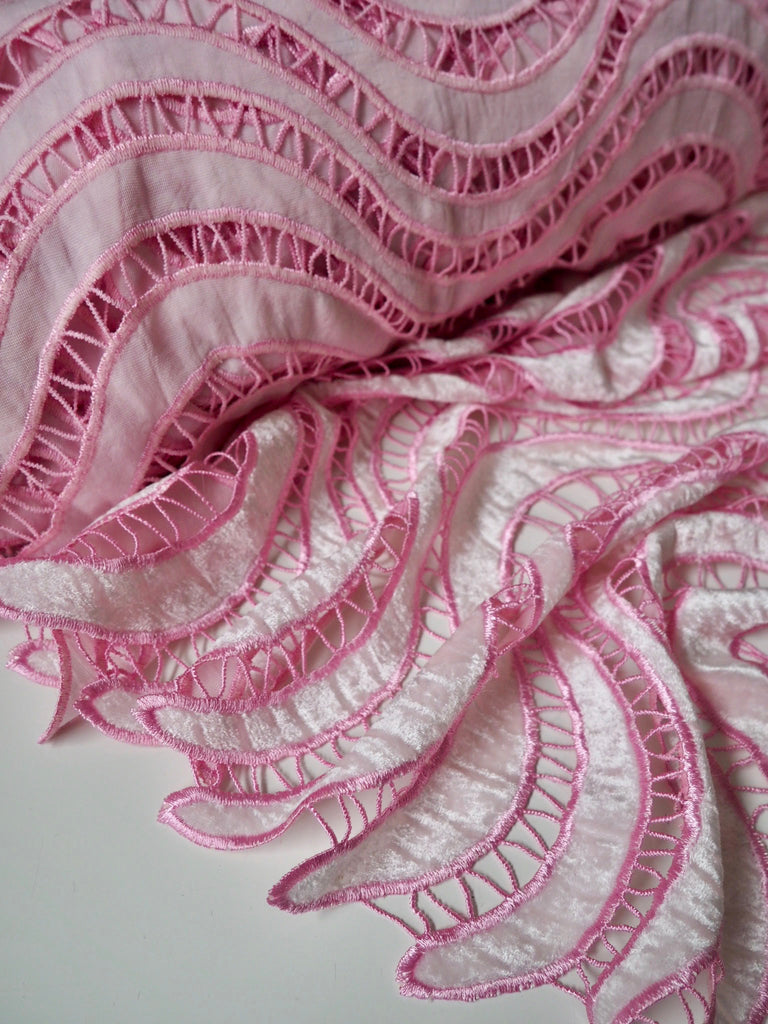 Rose Quartz Velvet Lace