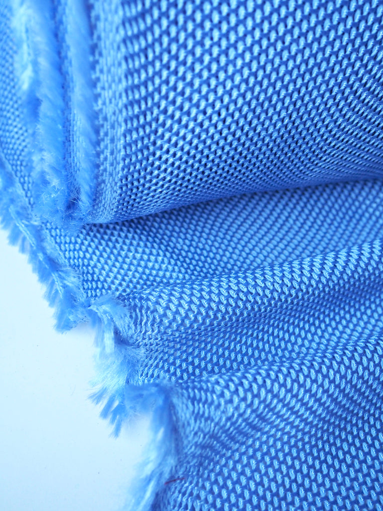Cornflower Cotton Viscose Chainmail Knit