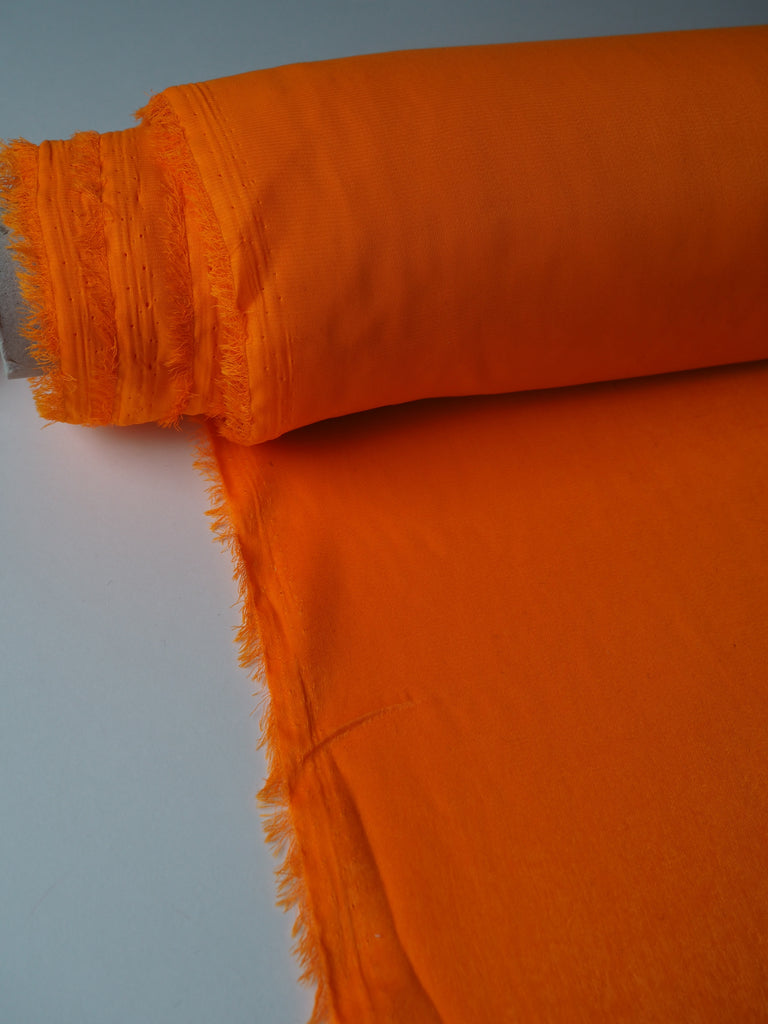 Tangerine Crushed Lightweight Satin