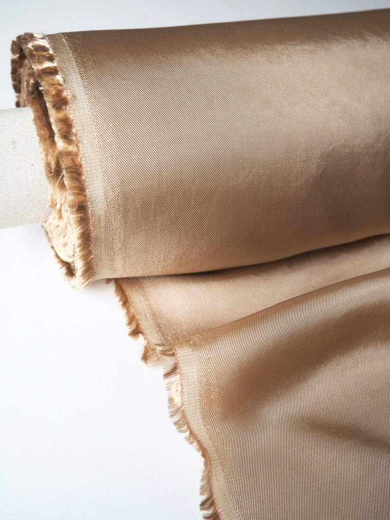 Gold Viscose Satin Twill Lining
