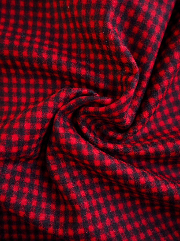 Vienna Red Check Wool (Ex-Designer)