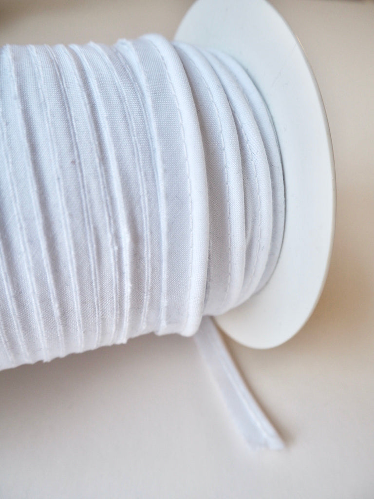 White Polycotton Bias Piping