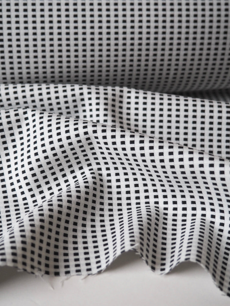 Draughts Cotton Viscose Stretch Jacquard