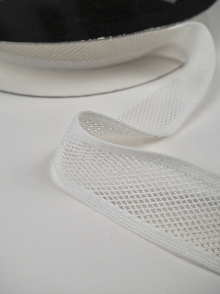 White Mesh Binder Shindo Elastic 30mm