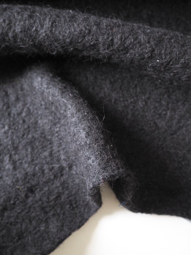 Black Felted Mohair