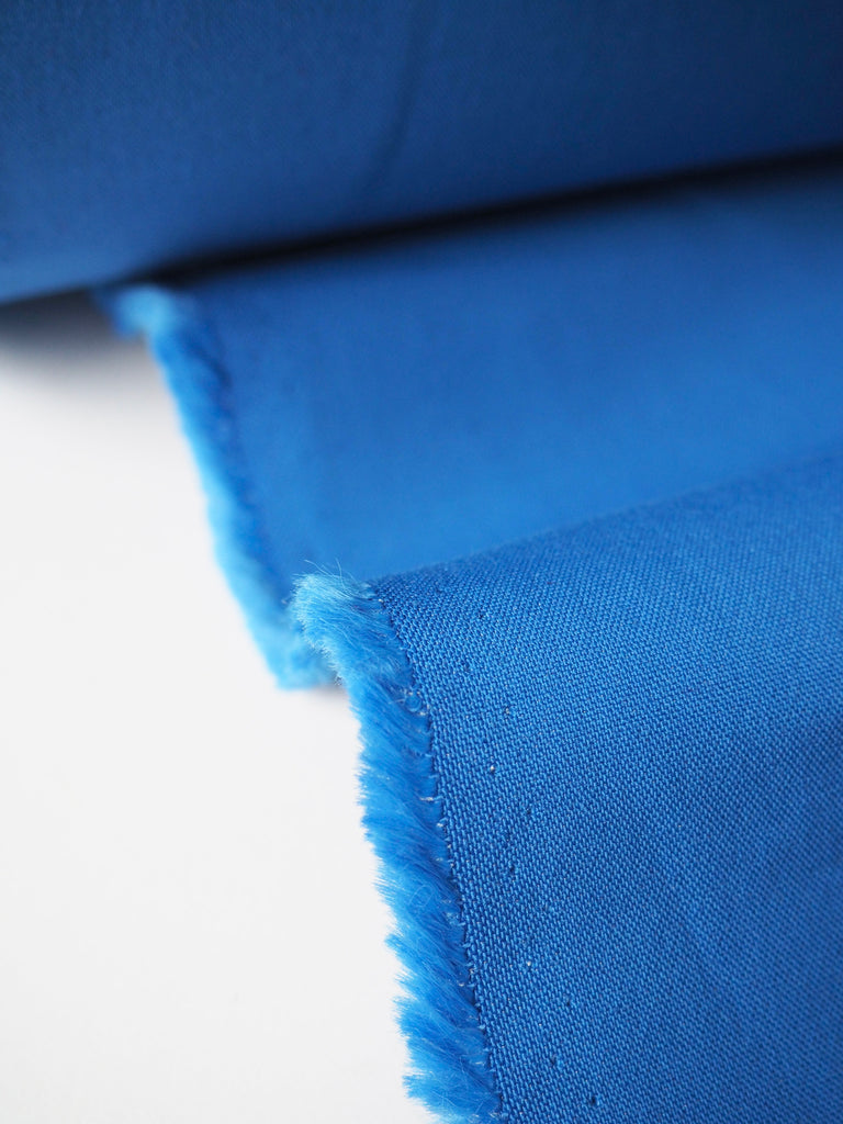 Ocean Double Faced Stretch Viscose Twill Crepe