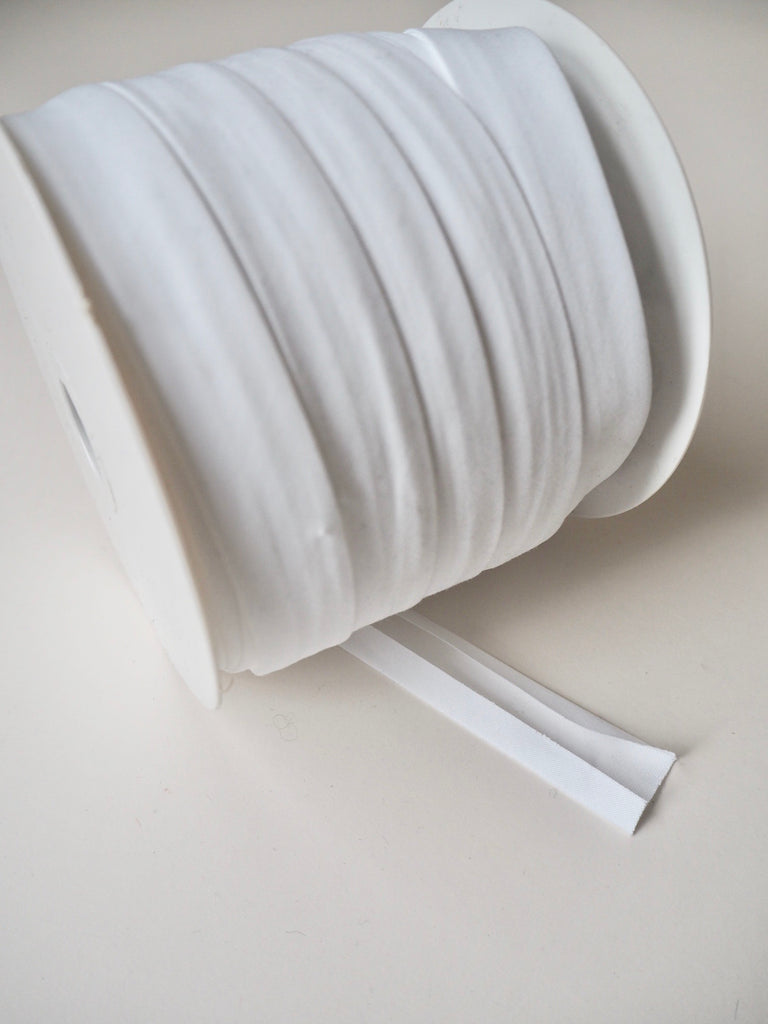 White Polycotton Wide Bias Binding 20mm