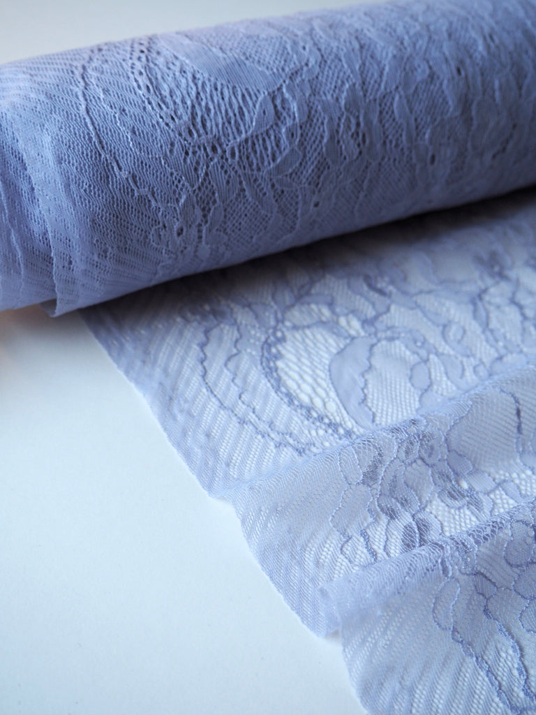 Lavender Stretch Chantilly Lace