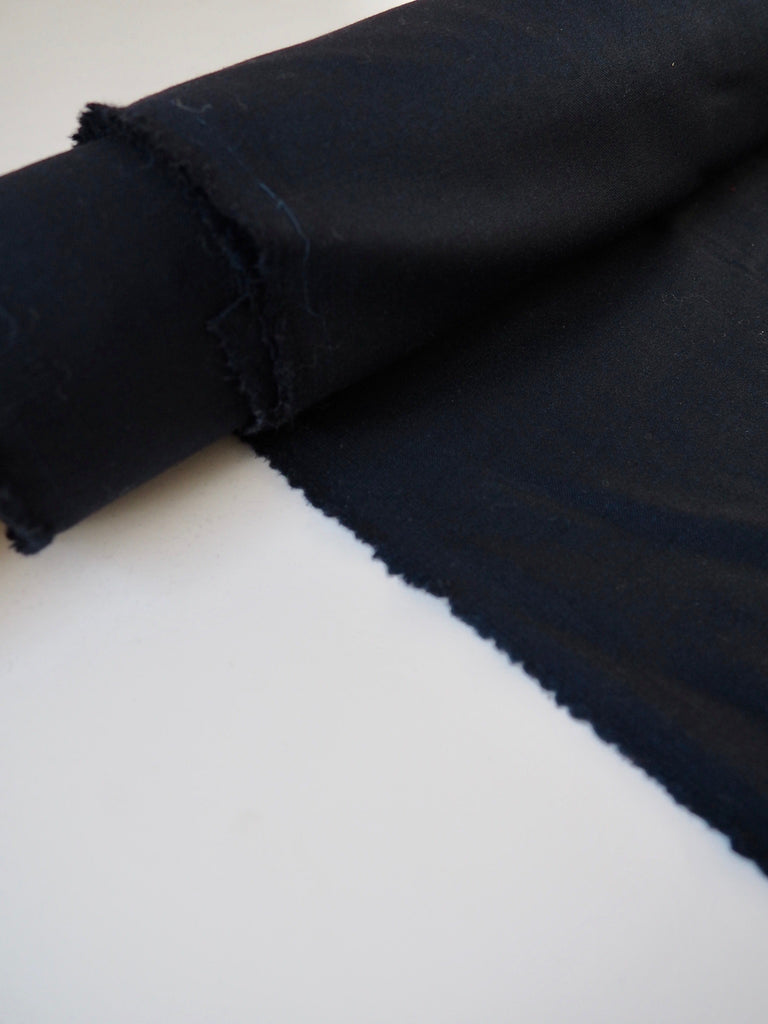Navy Twill Stretch Wool Suiting