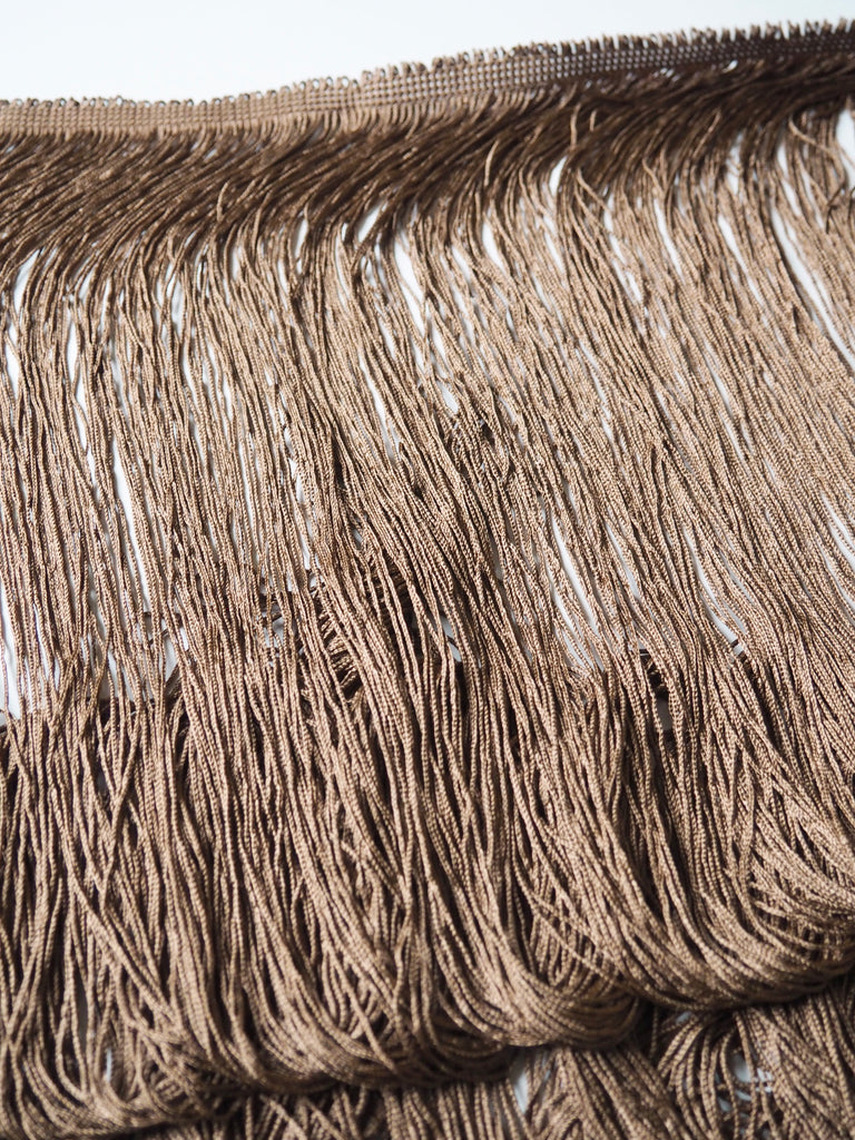Chocolate Extra Long Lampshade Loop Fringe Trim 95cm