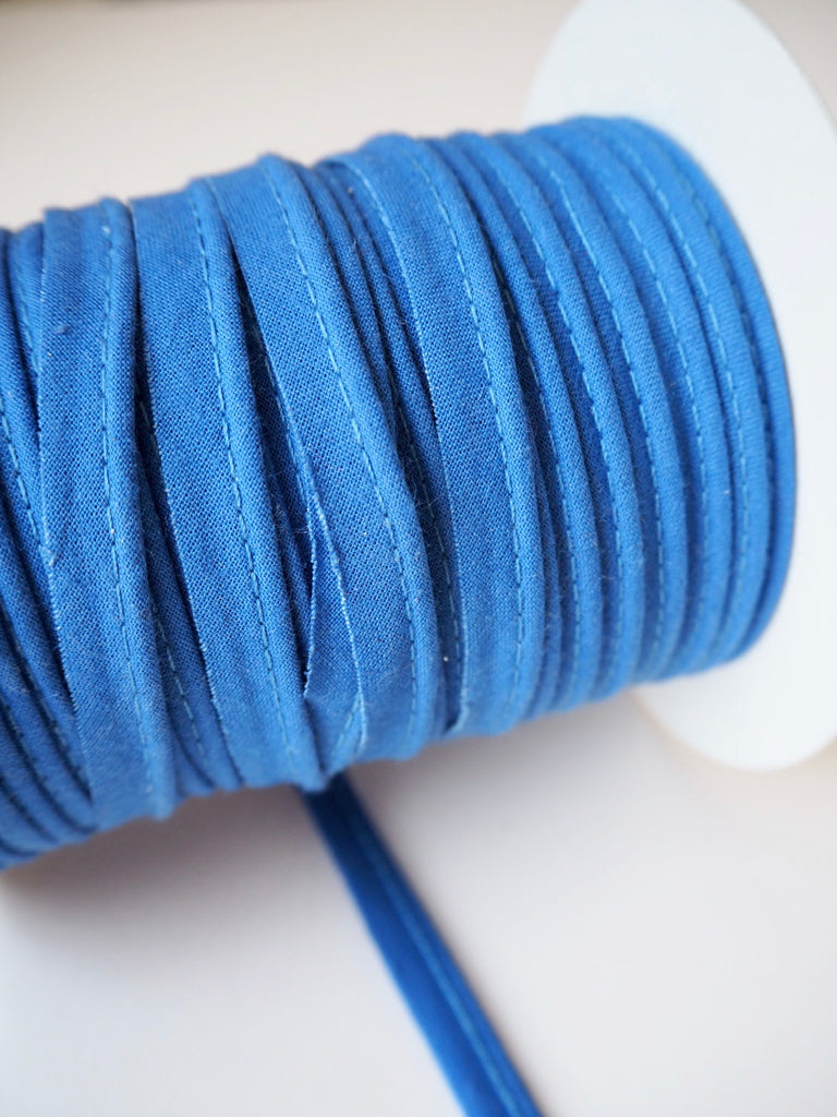 Blue Cotton Bias Piping