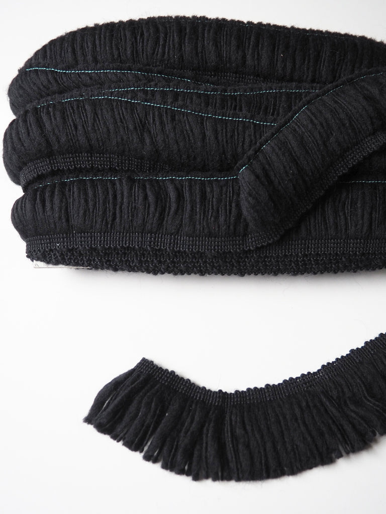 Black Sheepy Mini Fringe Trim 5cm