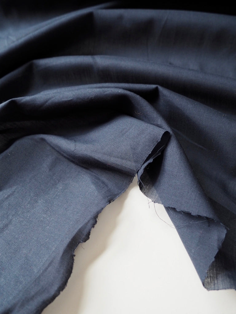 Dark Blue Cotton Voile