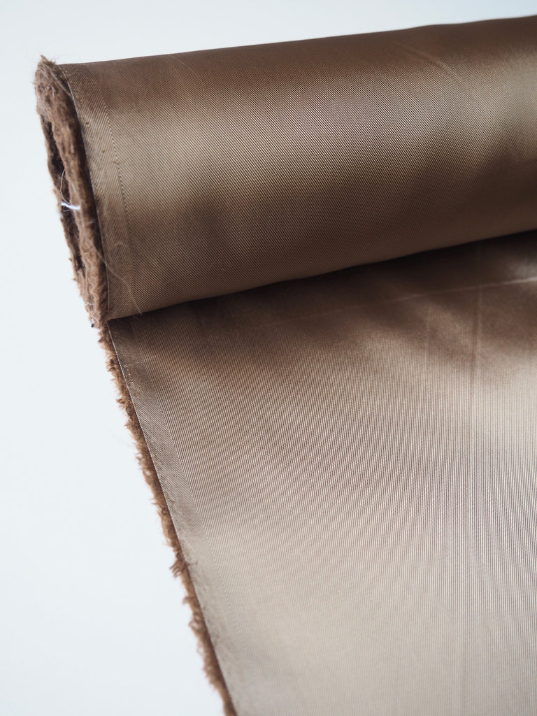 Chestnut Satin Twill Viscose Lining