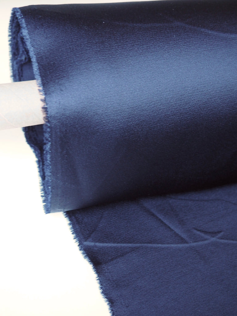 Midnight Viscose Crepe Backed Satin