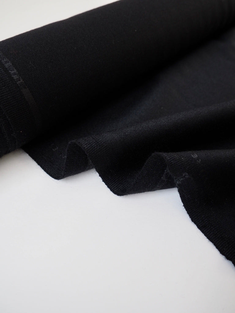 Black Wool Suiting