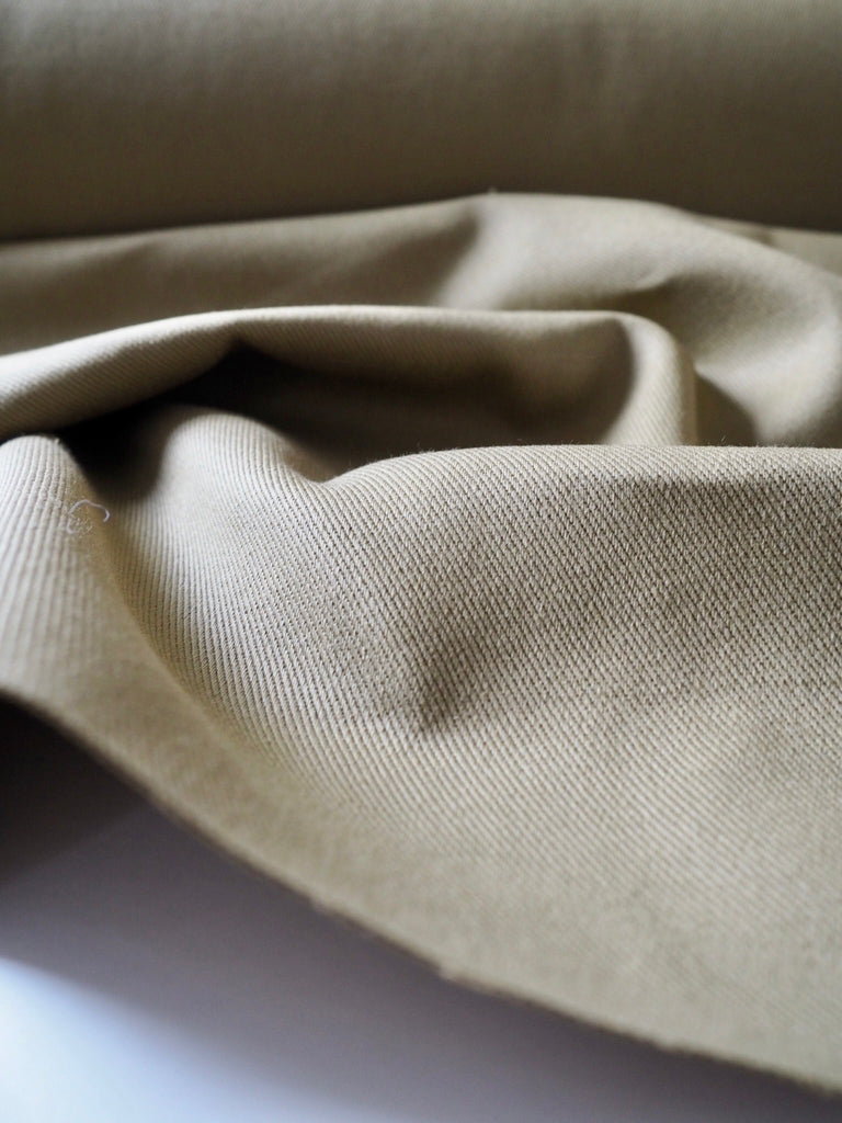 Green Chunky Cotton Twill