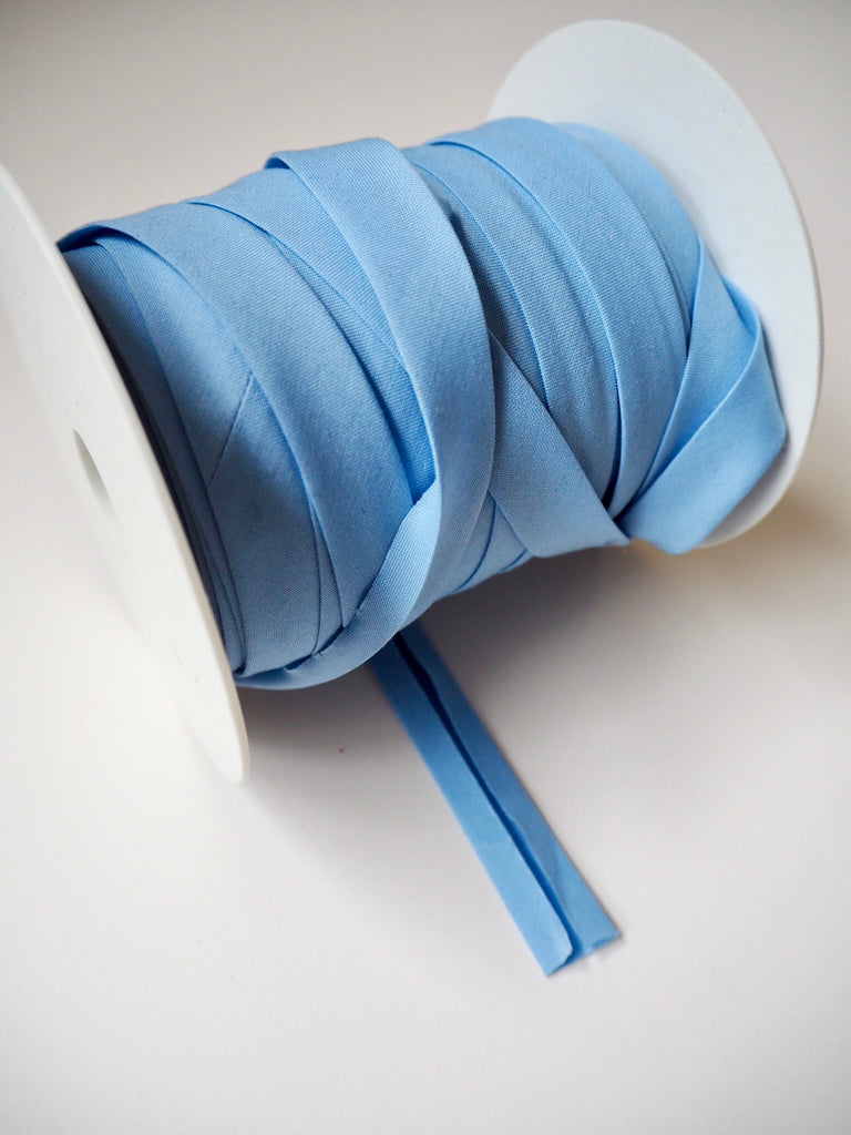 Light Blue Polycotton Bias Binding 14mm