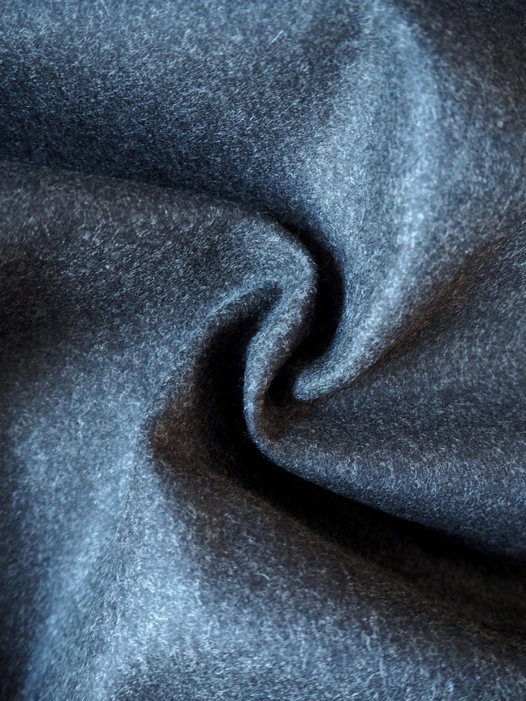 Dark Grey Felted Wool