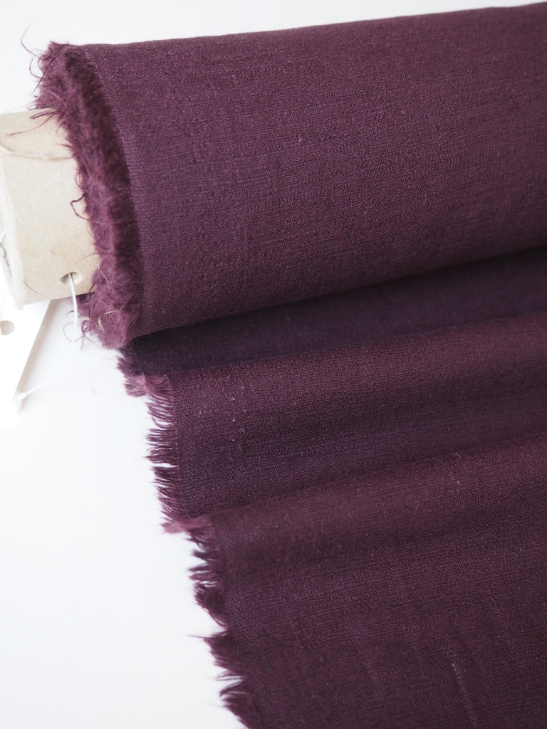 Wine Slub Cotton Viscose