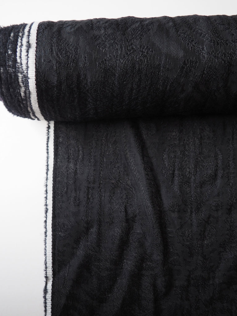 Chatsworth Black Silk Cotton Jacquard