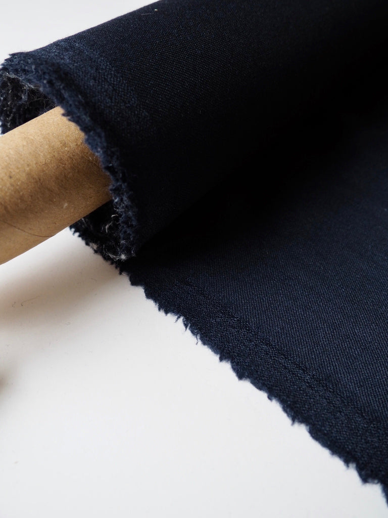 Navy Lightweight Wool Twill