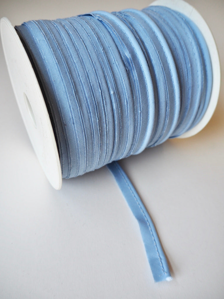 Blue Polycotton Bias Piping