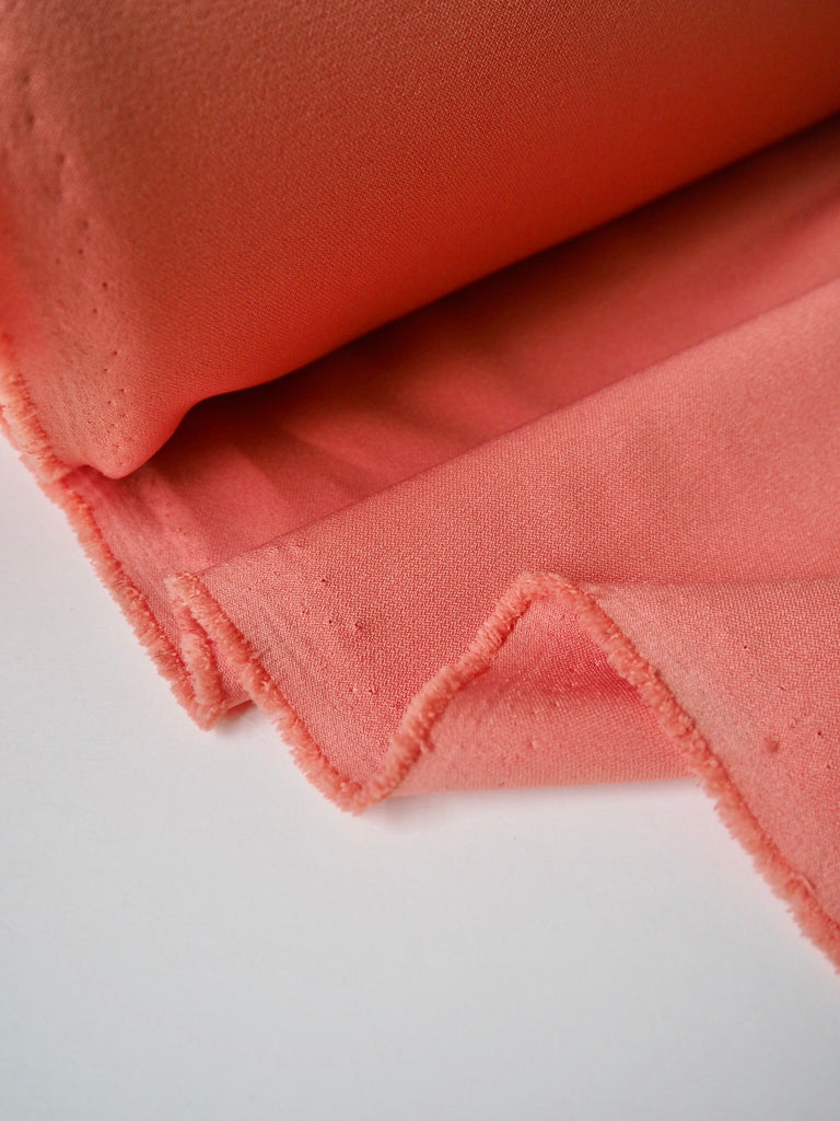 Pink Coral Stretch Crepe