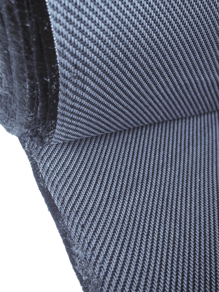 Black Loose Weave Cotton Viscose Twill