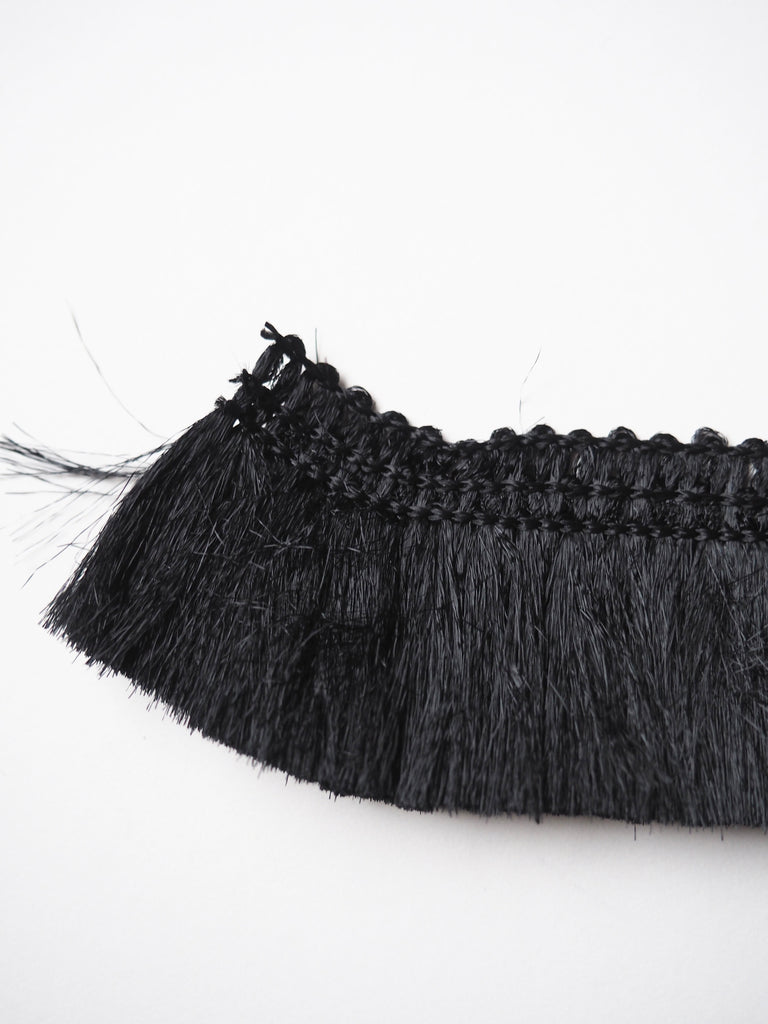 Black Paintbrush Fringe Trim 4cm