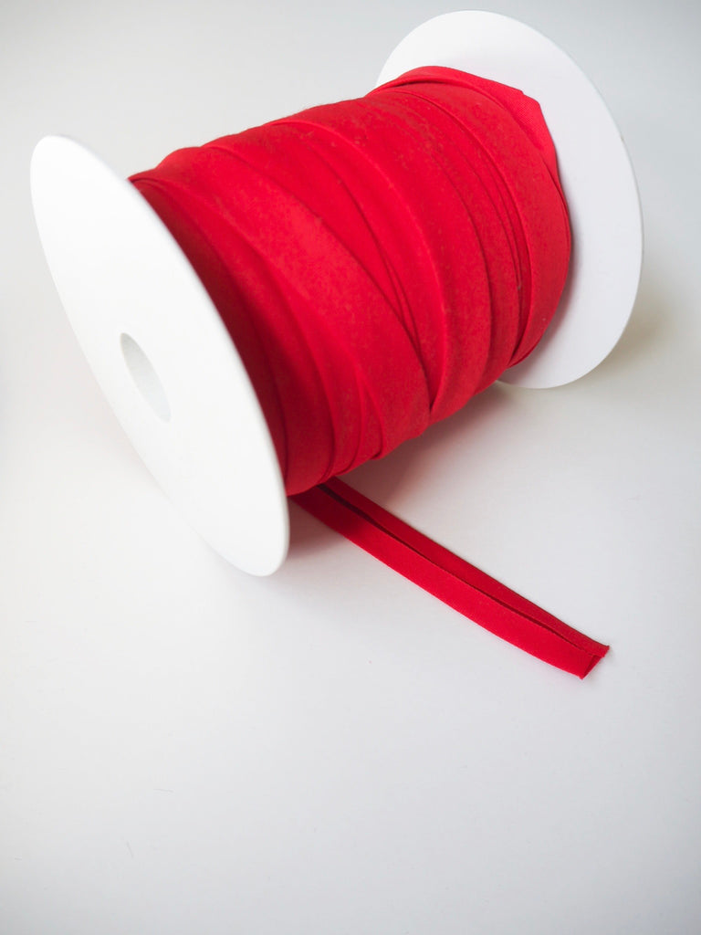 Red Cotton Sateen Bias Binding 14mm