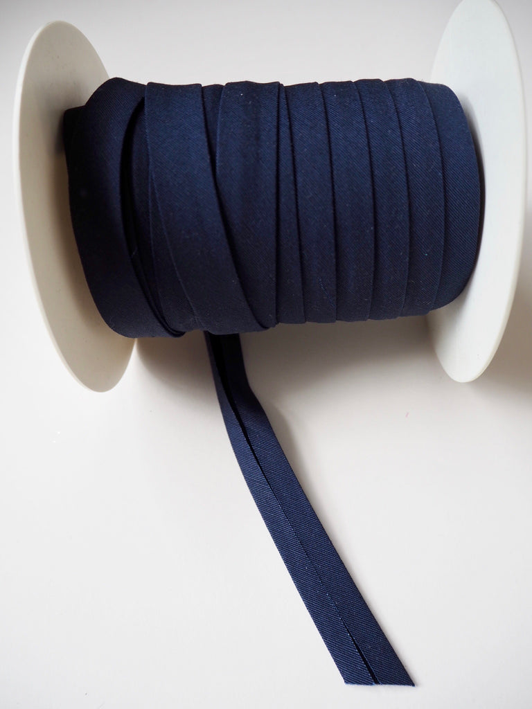 Navy Cotton Faille Bias Binding 14mm