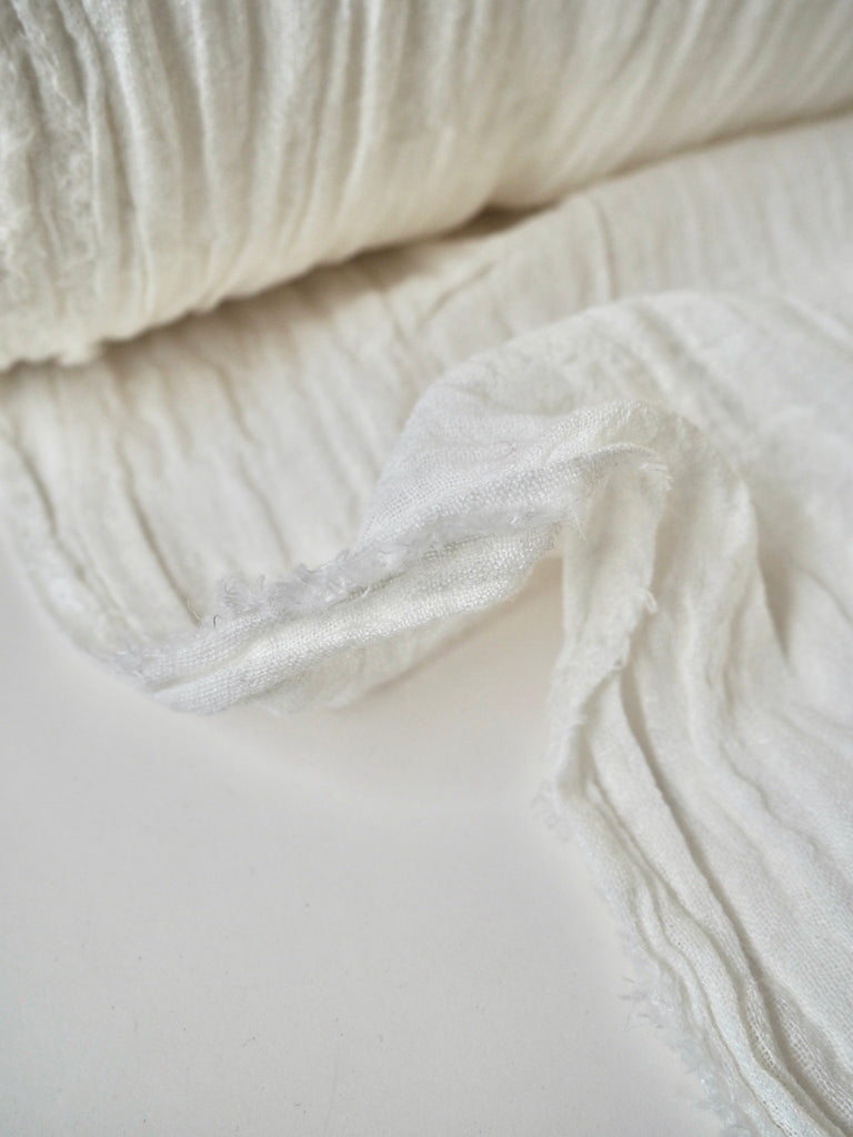 Marseille White Cotton Cheesecloth